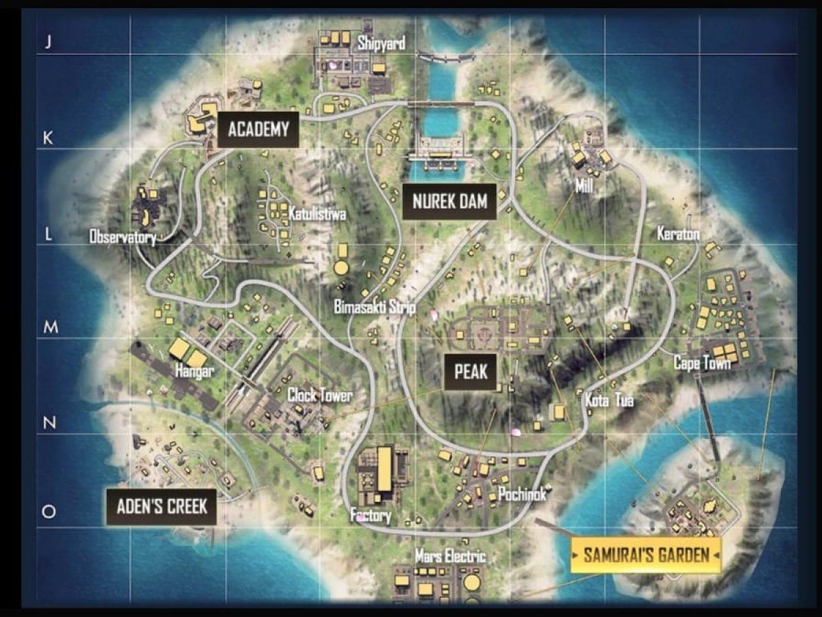 رسم توضيحي لخريطة برمودة Bermuda